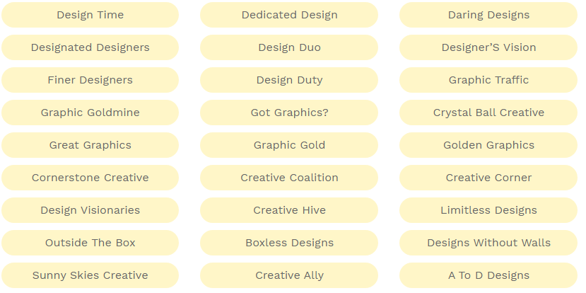 477 Most Creative Graphic Design Business Names Ideas